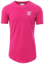 Siksilk Sangria Pink Short Sleeve Gym T-Shirt