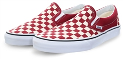 Vans Red Checkerboard Classic Slip-On Shoes