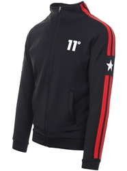 11degrees Black Southpaw Track Zip Up Jacket