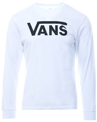Vans White/Black Classic Long Sleeve T-Shirt