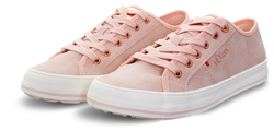 S.Oliver Old Rose Textured Lace Up Trainer