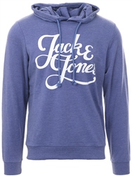 Jack & Jones Denim Galions Logo Print Hoodie