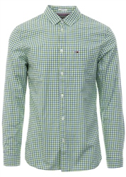 Tommy Jeans Acid Lime Essential Check Slim Fit Shirt