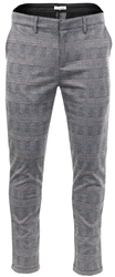 Missi Lond Grey /Brown Checked Print Trouser