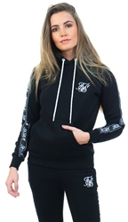 Siksilk Black Original Tape Pullover Hoodie
