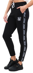 Siksilk Black / White Original Tape Joggers