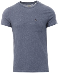 Jack Wills Dusk Blue Ayleford Slim Short Sleeve T-Shirt