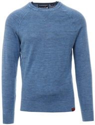 Superdry Washed Air Blue Garment Dye L.A. Crew Jumper