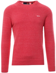 Superdry Cannery Red Grit Orange Label Cotton Crew Jumper