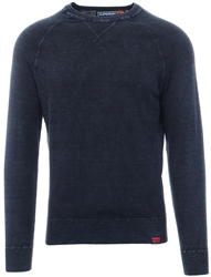 Superdry Washed Navy Garment Dye L.A. Crew Jumper