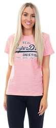 Superdry Coral Fusion Vintage Logo Enry T-Shirt
