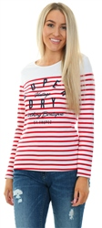 Superdry Nautical Red Stripe Callie Twist Back Top