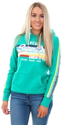 Superdry Summer Green Retro Rainbow Entry Hood