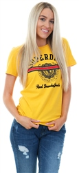 Superdry Rio Yellow Heritage Crest Tape Entry T-Shirt