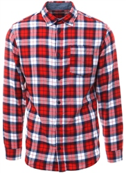 Jack & Jones Fiery Red Checked Long Sleeve Shirt