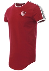 Siksilk Red S/S Curved Taped Runner Tee