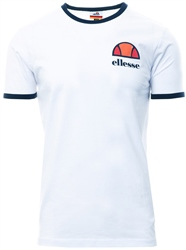 Ellesse White Algila Short Sleeve T-Shirt