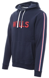 Jack Wills Navy Graphic Popover Batsford Hoodie