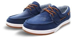 Xti Dark Navy Boat Panel Lace Up Detail Shoe