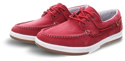Xti Bright Red Boat Panel Lace Up Detail Shoe
