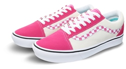 Vans Pink Check Comfycush Old Skool Shoes