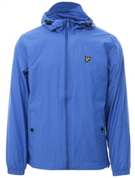 Lyle & Scott Blue Zip Through Hooded Jacket