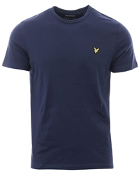 Lyle & Scott Navy Marl Crew Short Sleeve T-Shirt