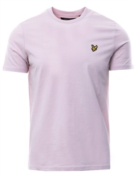 Lyle & Scott Dusty Lilac Plain Short Sleeve Crew T-Shirt