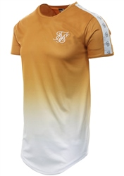 Siksilk Gold Mustard Taped Fade Gym Tee