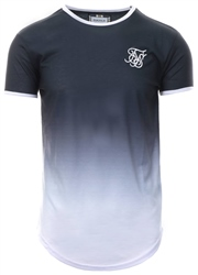 Siksilk Anthracite/White Ringer Fade Tee