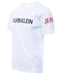 Calvin Klein Bright White Logo Short Sleeve T-Shirt