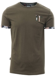11degrees Khaki Core Logo Short Sleeve T-Shirt