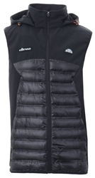 Ellesse Black Myrmica Padded Zip Up Gilet
