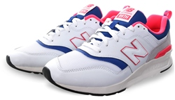 New Balance White Lazer Blue 997h Lace Up Trainer