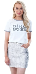 Daisy St Cream Girl Boss Short Sleeve T-Shirt