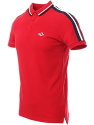 Le Shark Cherry Polo Shirt With Sleeve Panels