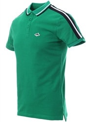 Le Shark Jelly Green Polo Shirt With Sleeve Panels