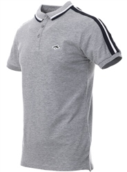 Le Shark Light Grey Polo Shirt With Sleeve Panels