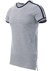 Le Shark Light Grey T-Shirt With Sleeve Panels