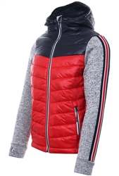 Superdry Red Storm Hybrid Chevron Zip Hoodie