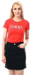 Hilfiger Denim Flame Scarlet Slim Fit 1985 T-Shirt