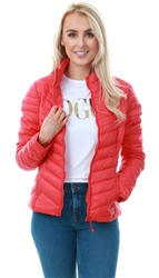 Only Red / Mars Red Short Quilted Jacket
