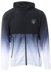 Siksilk Black/White Wind Runner Zip Up Jacket