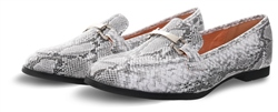 No Doubt Grey/White Snake Print Slip On Shoe