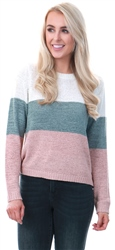 Only Cloud Dancer / White Knit Stripe Pullover