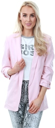 Pieces Peachskin 3/4 Length Sleeves Blazer