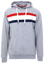 Threadbare Grey Colour Block Rois Hoody