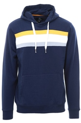Threadbare Navy Colour Block Rois Hoody