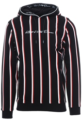 Kings Will Dream Black Moffat Overhead Striped Hooded Top
