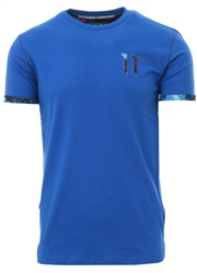 11degrees Blue Vapour Mesh Logo T-Shirt
